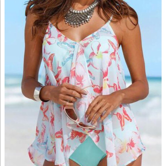 9c9241bbfe Esshe Swim | Brand New Womens Bathing Suit With Tankini Cover | Poshmark